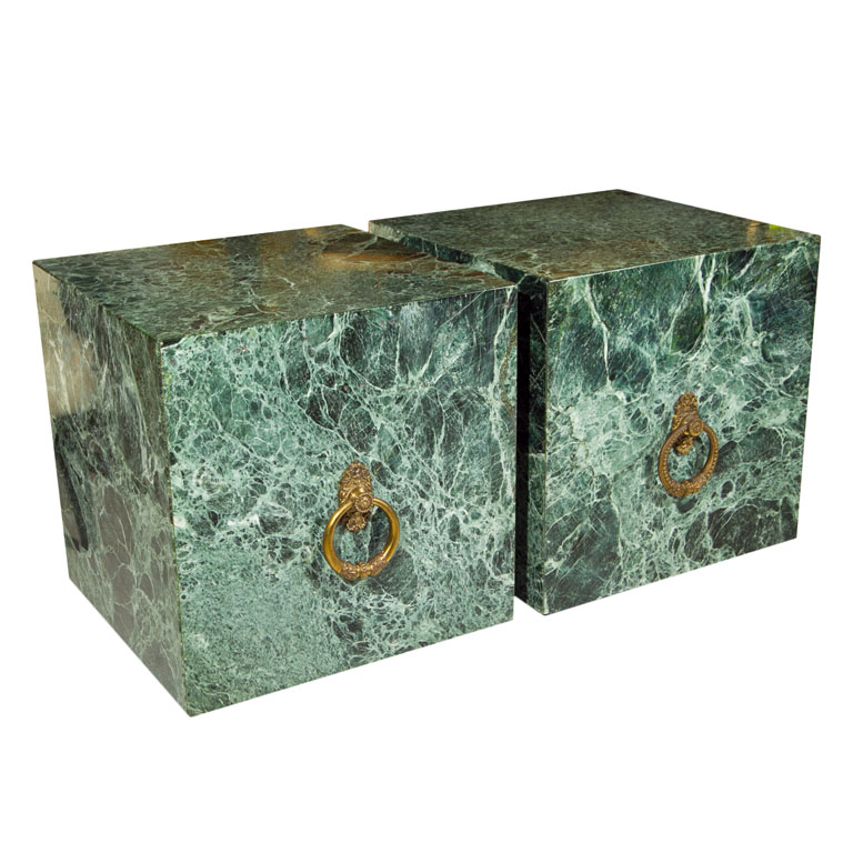 Green marble end table | baldo